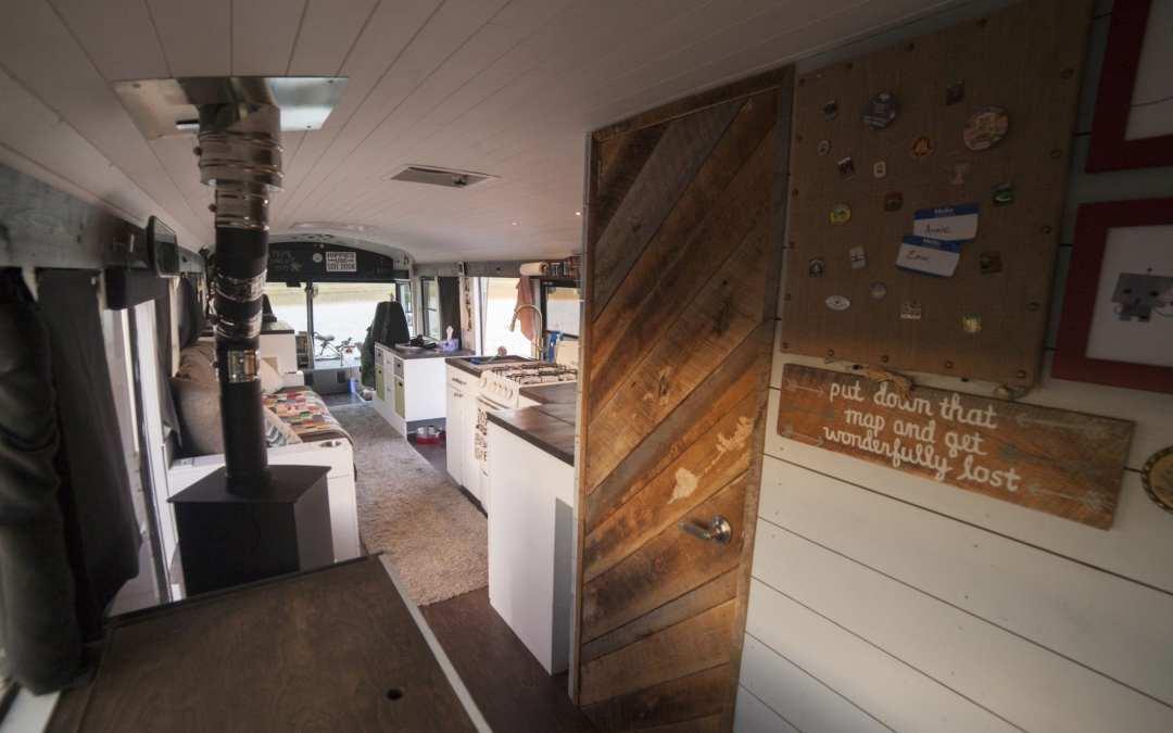 """Zach & Annie's Nomadic Adventure Bus, """"Stormy"""" @naturalstatenomads"""