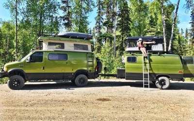Kev's Alaskan Overland Sauna Gear Trailer @hugothebiggreenvan