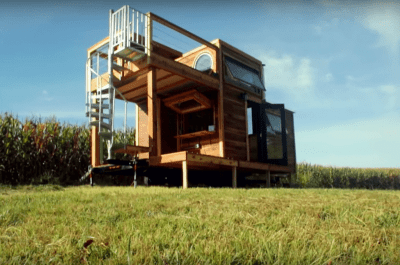 "Carpenter Owl Tiny Home ""Honey on the Rock""."