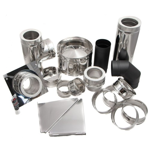 5 Inch Tent/Yurt Wall Exit Chimney Installation Kit Contents