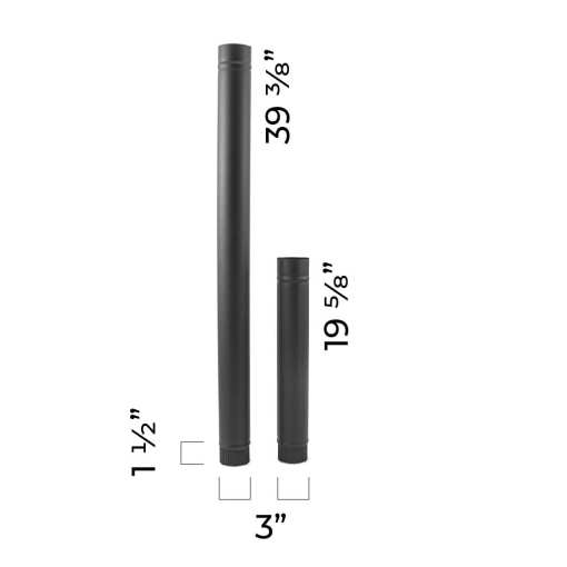 3 Inch Single-Wall Stovepipe Dimensions
