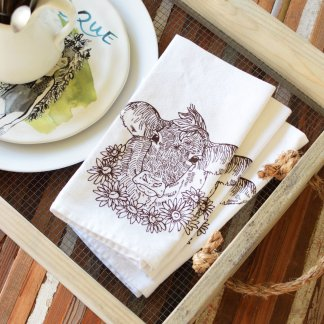 Cow Cloth Napkin