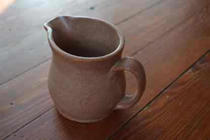 handcrafted ceramic creamer