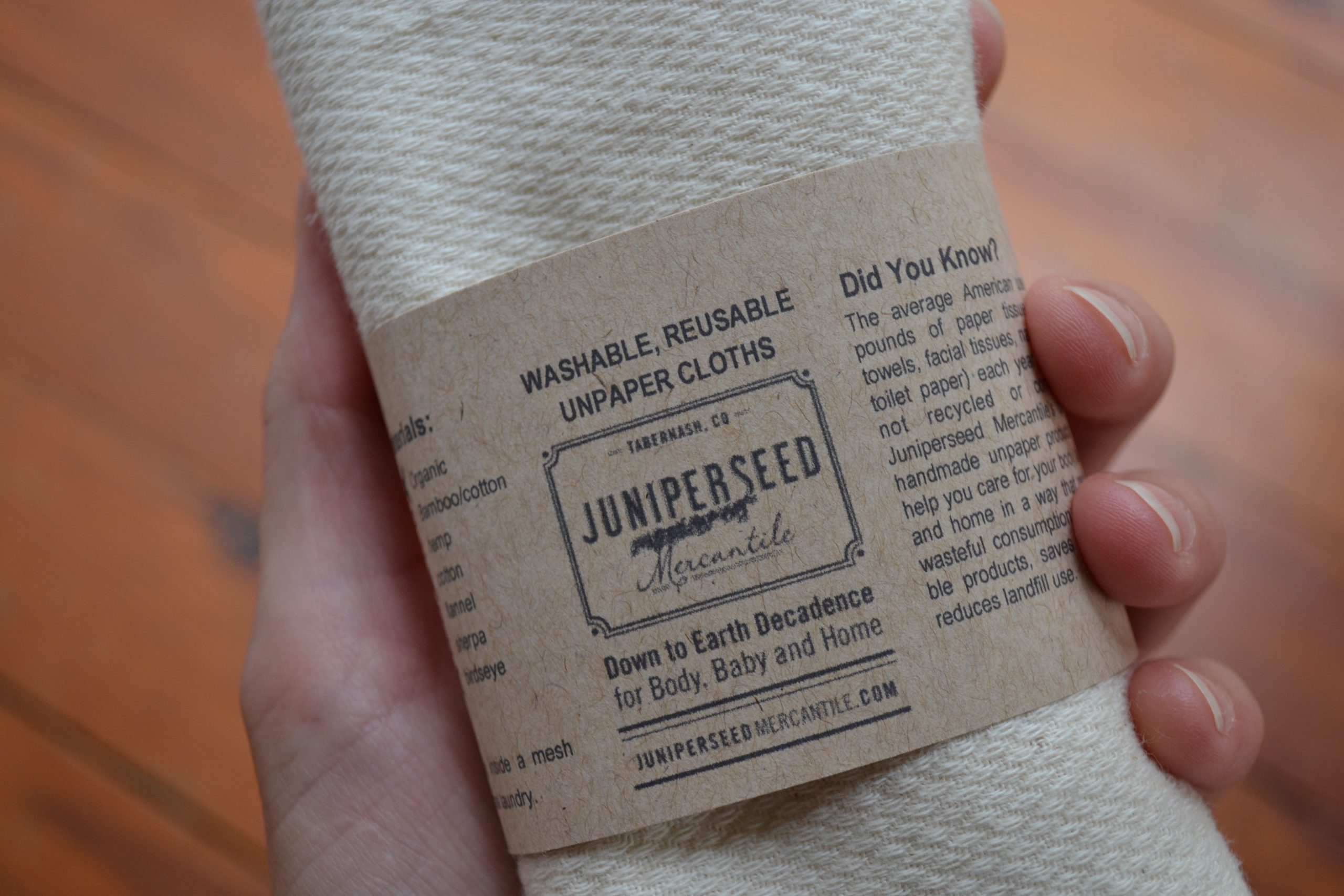 Organic Unbleached Cotton Unpaper Towels - tiny yellow bungalow