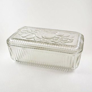 Vintage Large Glass Refrigerator Container