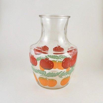 Fruit Print Vintage Juice Jug
