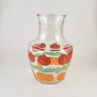 Fruit Print Vintage Juice Jug