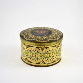 Small Black Intricate Vintage Tin