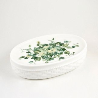 oval ivy soap dish