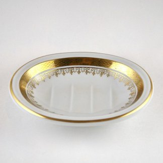 Simple Gold Rimmed Soap Dish