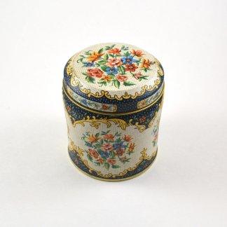 vintage metal floral tin