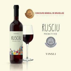 Rusciu Primitivo vinoli premio