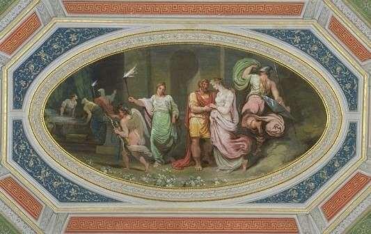 Olivo-miti-Ulisse-e-penelope-scena-del-letto-palazzo-milzetti