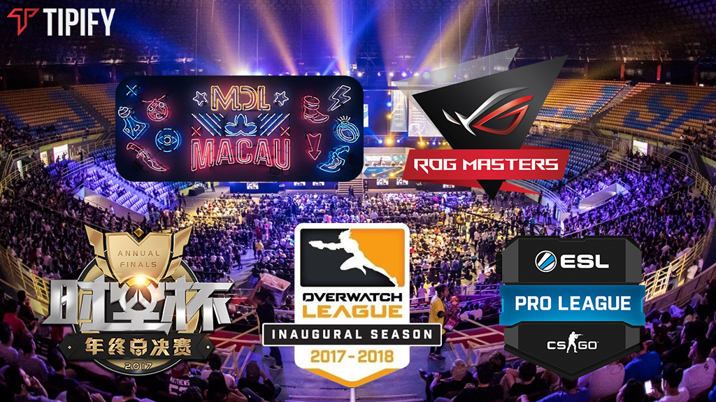 Midweek CS:GO, DotA 2, LoL, and Overwatch Tournaments To Watch - Tipify