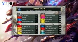 LoL Worlds 2019 Finalizes Main Event Groups