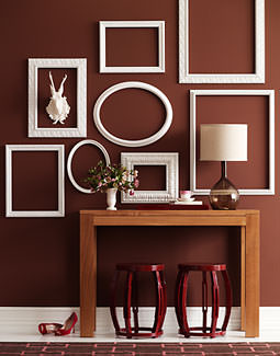 Empty frames on a wall