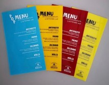 menu in Plexiglas stampato