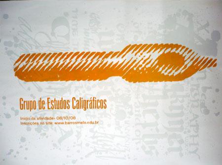 cartaz grupo de estudos caligraficos