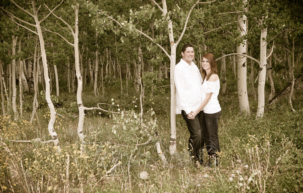happy couple in crested butte, photo