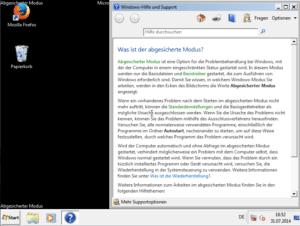 Windows 7 im abgesicherten Modus