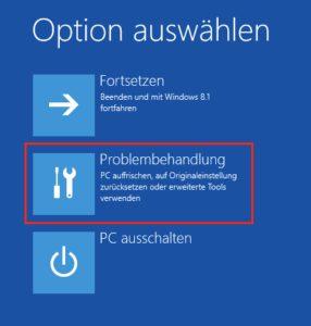 Abgesicherter Modus in Windows 8 und 10 aufrufen