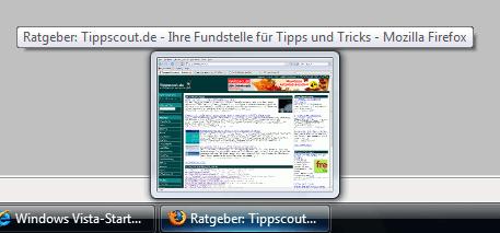 Vorschau in Windows-Taskleiste