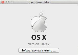 OS X Versionsnummer auf dem Desktop