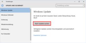 Windows Updates prüfen