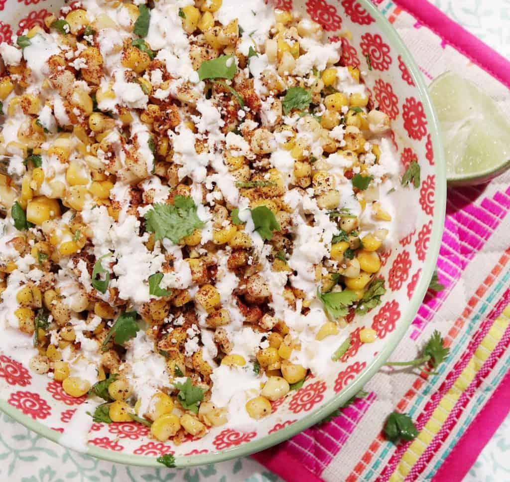 Skinny Mexican Street Corn Salad