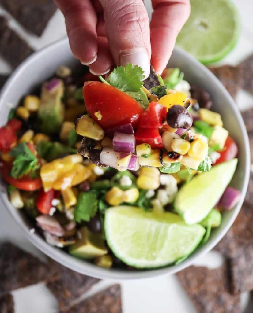 Avocado Black Bean Corn Salad