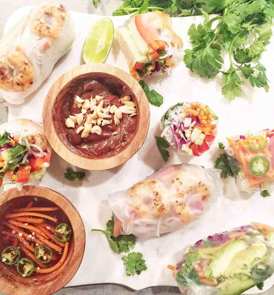 Spicy Garlic Shrimp Spring Rolls