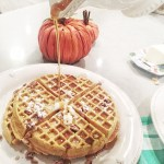 Whole Wheat Pumpkin Oat Waffles
