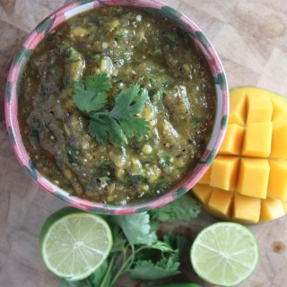 Roasted Tomatillo & Mango Salsa