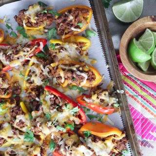 Jalepeno Chorizo Stuffed Mini Peppers