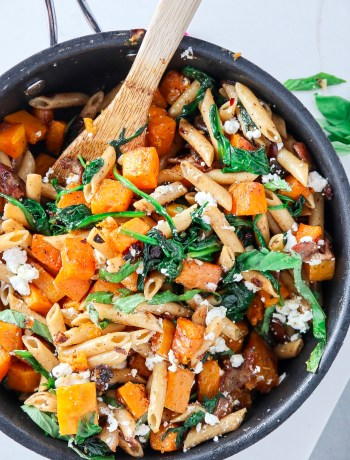 Roasted Butternut Squash Goat Cheese Penne
