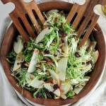 Frisée and Honeycrisp Apple Salad with Dried Cranberries & Toasted Almonds