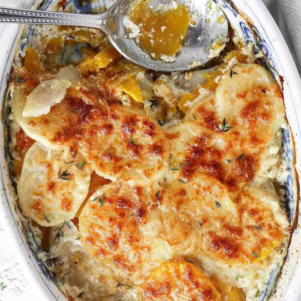 Butternut Squash and Potato Gratin