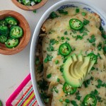 Greek Yogurt Chicken Enchiladas