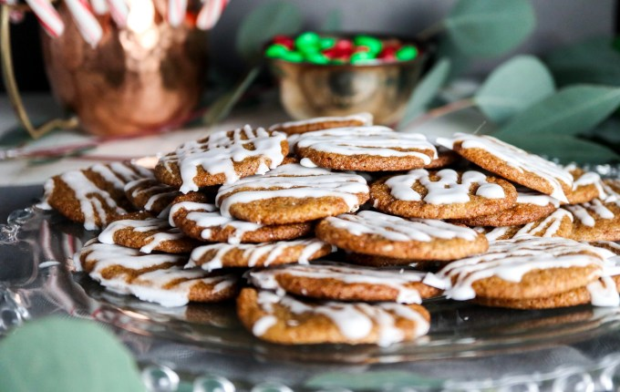 Life Changing Iced Gingersnap Cookies