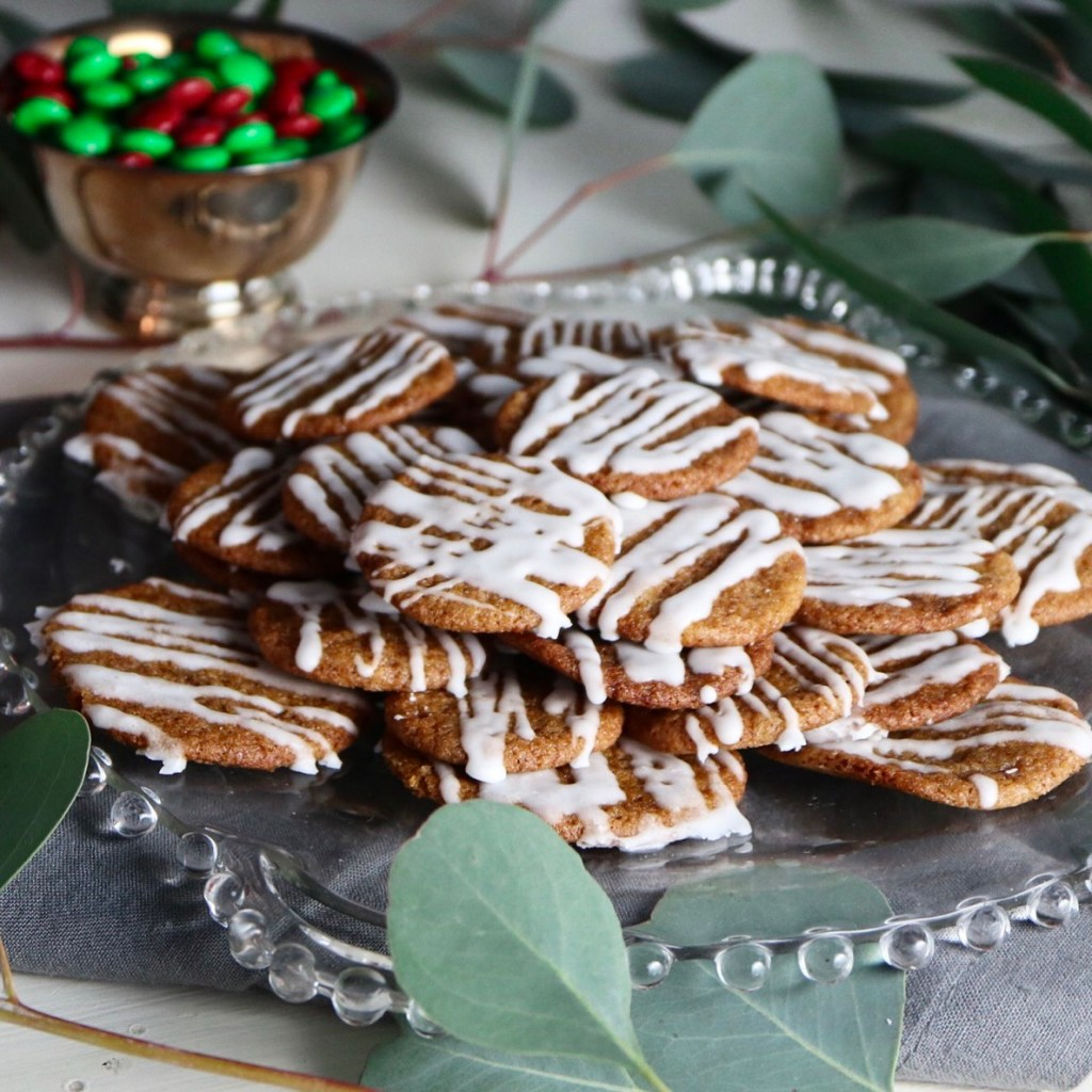 Iced Gingersnap Cookies