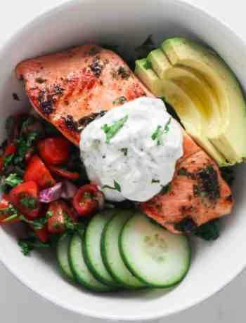 Salmon Tzatziki Bowls for Two