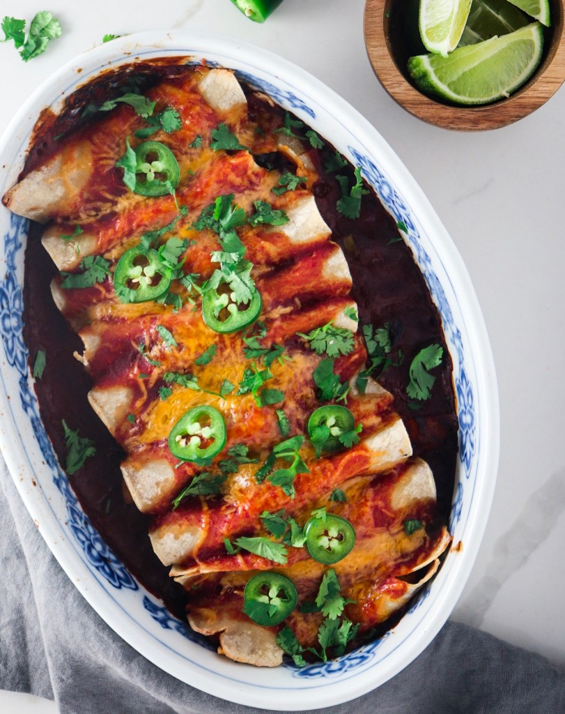 Butternut Squash & Black Bean Enchiladas