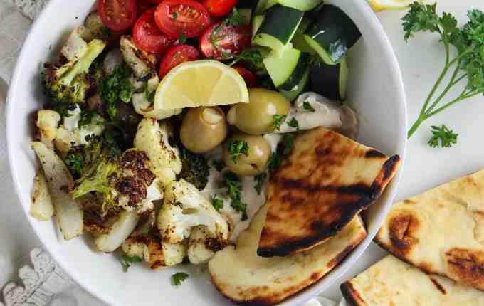 Roasted Veggie Mediterranean Bowls