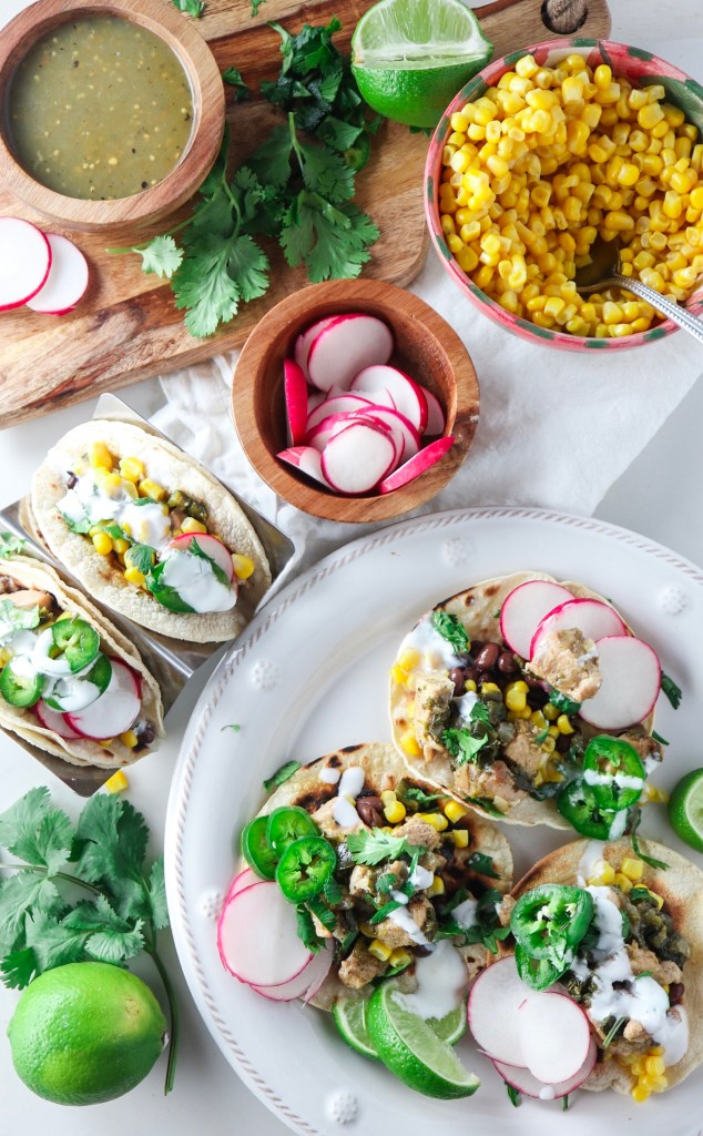 Instant Pot Poblano Chicken Tacos