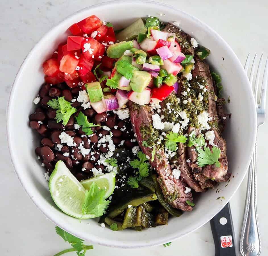 Chimichurri STeak Bowls for TWO
