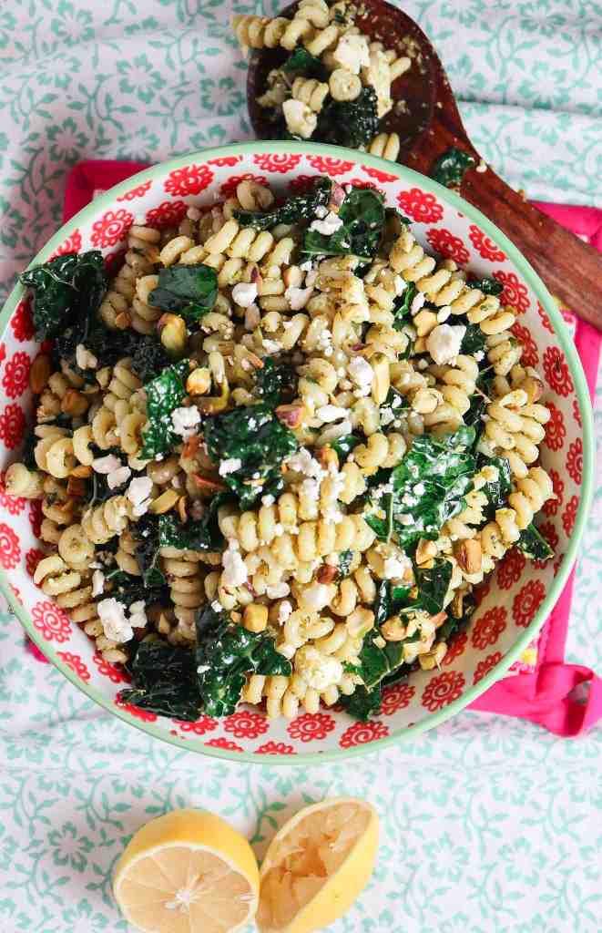 Pistachio Pesto Pasta Salad