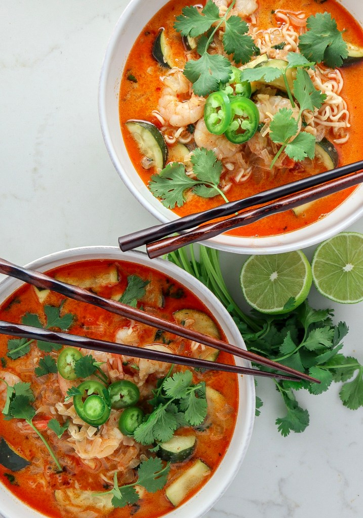 Red Curry Shrimp Ramen Noodles