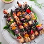 Grilled Chicken Kebabs with Lemon Herb Sauce