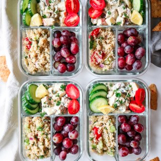 Chicken Salad and Quinoa Tabouli Lunch Meal Prep