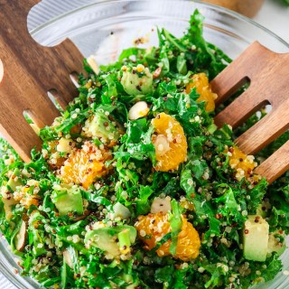 Orange Almond Kale & Quinoa Salad